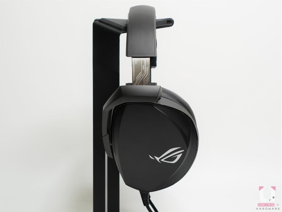 耳機本體上的 ROG 標誌不會發光。