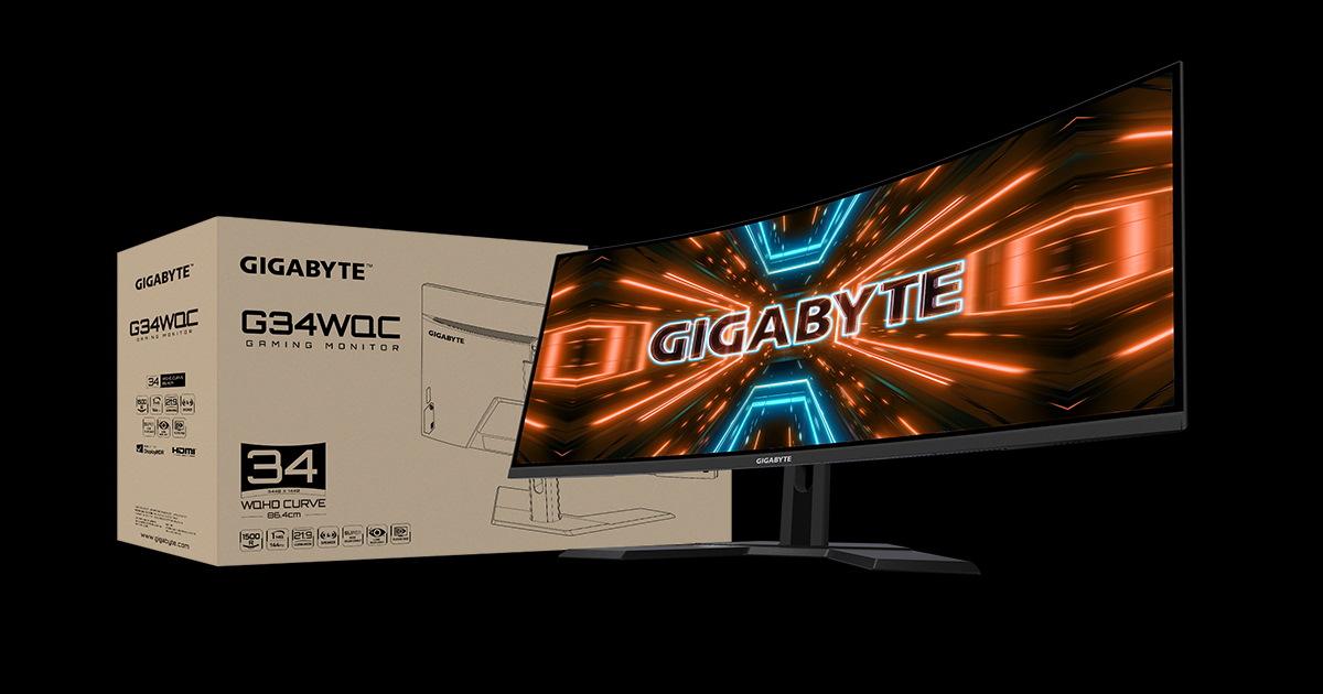 Gigabyte 原生 1500R Ultra-wide G34WQC 電競螢幕登場。