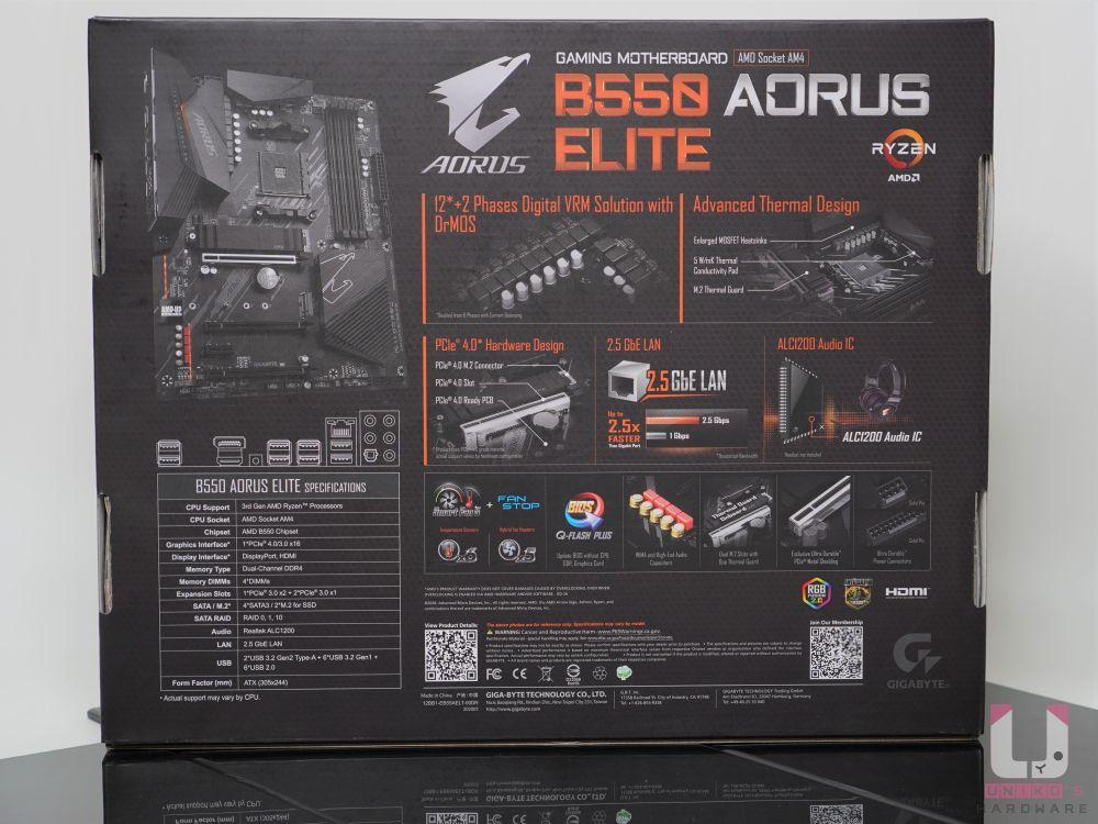 B550 AORUS ELITE 需多特色介紹,包含 VRM 和散熱,PCIe 4.0 以及高階音效。