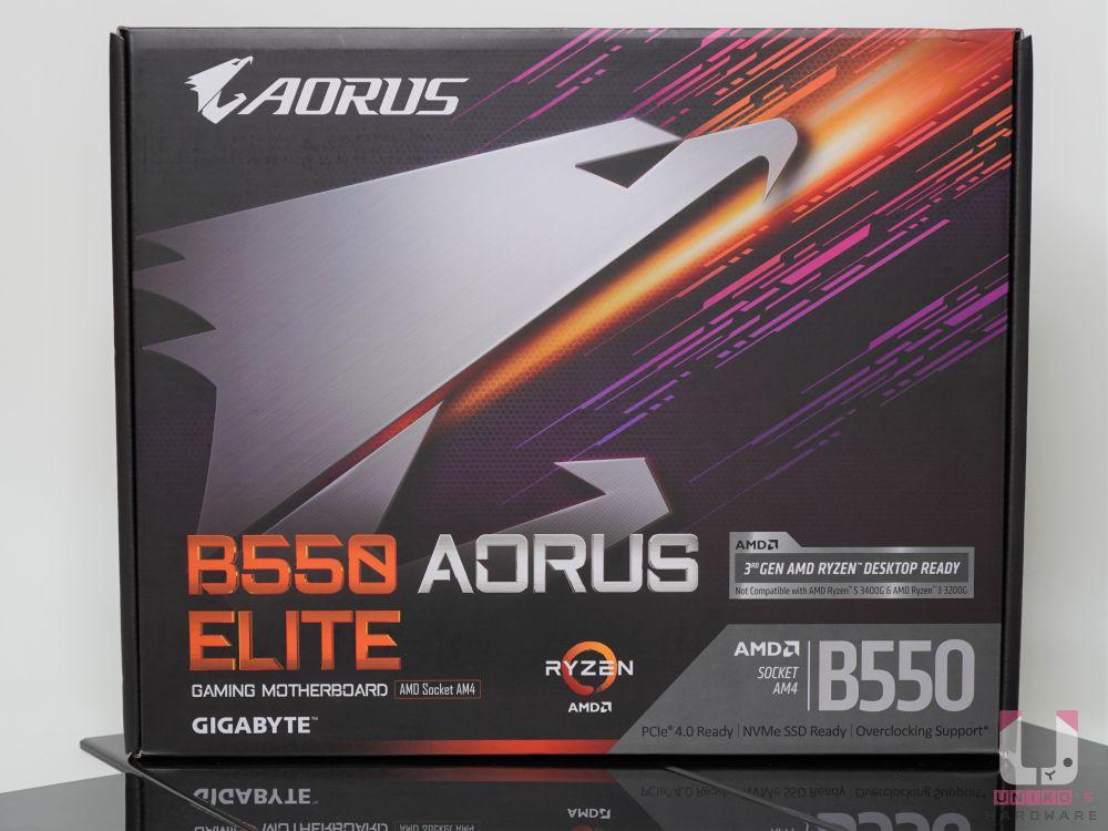 大大的 AORUS 神鷹,清楚的看到了 B550 晶片組。