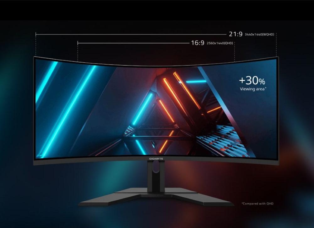 21:9 超寬比的螢幕可以帶給玩家傳統 16:9 全然不同的視覺感受,大幅增加 30% 可視範圍,讓使用者可以在各式使用情境上更能得心應手!