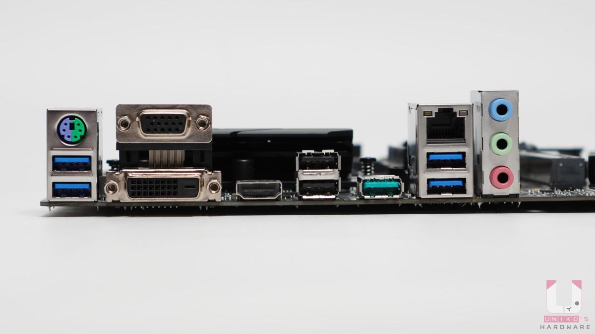 沒有預先安裝 I/O 擋板,PS/2、D-SUB、DVI-D、HDMI 2.1、USB 2.0、USB 3.2 Gen 1 / 2、Lan 有線網路,音源孔。