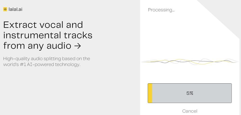 等待 AI 分析處理音樂結構。