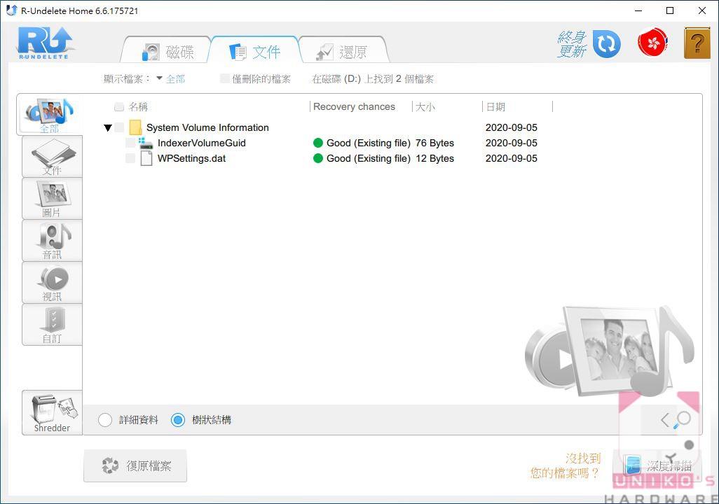 此時將進入快速掃描模式,會在最快時間內尋找該分割區的檔案。