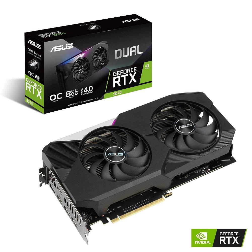 ASUS Dual GeForce RTX 3070 外觀。