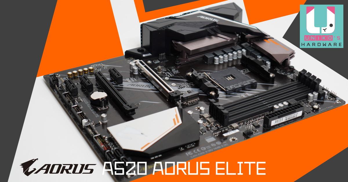 技嘉 A520 AORUS ELITE 主機板開箱評測,搭配 AMD Ryzen 7 Pro 4650G。