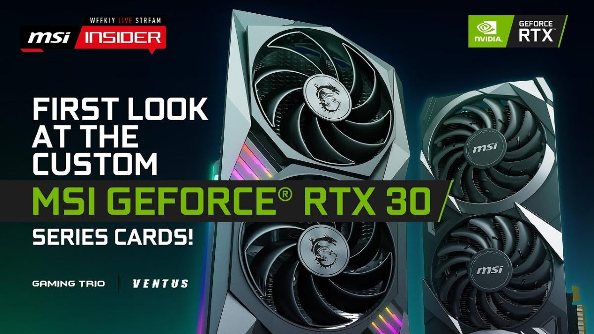 微星 GeForce RTX 30 系列顯示卡直播請點我,時間 2020/9/2 晚上10:00。