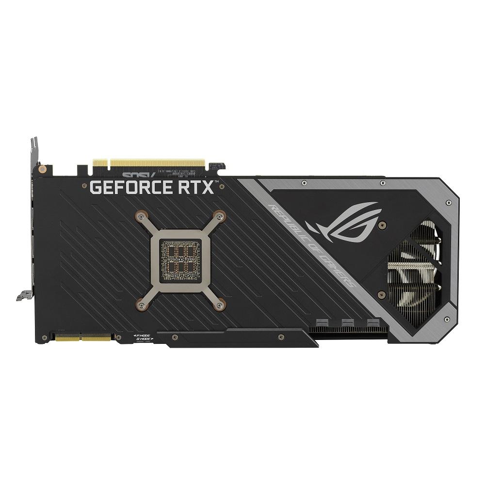 ROG Strix GeForce RTX 30 系列背面。