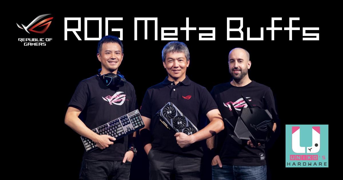 ROG Meta Buffs 發表最新顯示卡, 螢幕, 電競週邊, 和路由器。