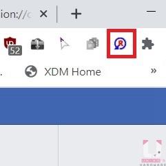 安裝後右上角會顯示擴充元件圖示。