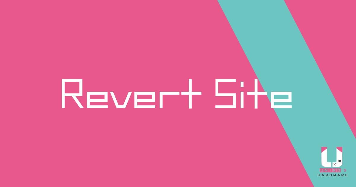 Revert Site