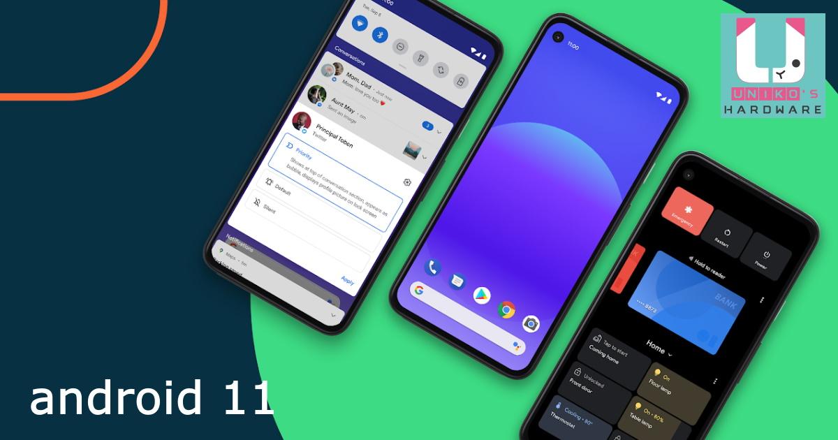 Google Android 11 手機作業系統正式上線!!