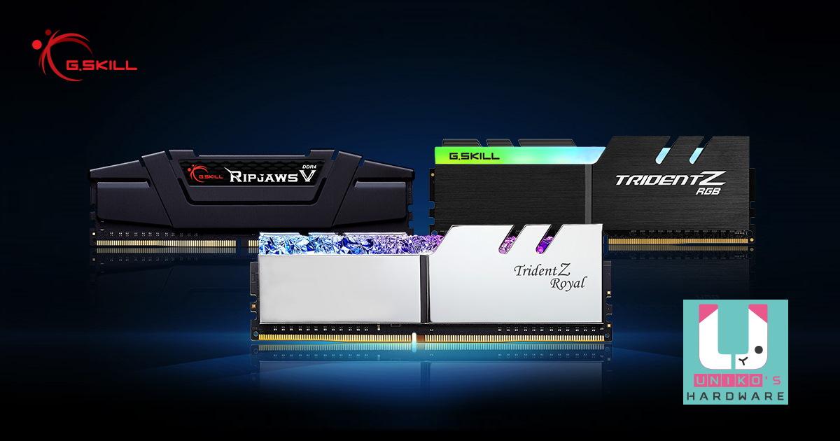 G.SKILL 推出 DDR4-4000 CL16 32GB (16GBx2) 及 DDR4-4400 CL16 16GB (8GBx2) 高速記憶體套裝。