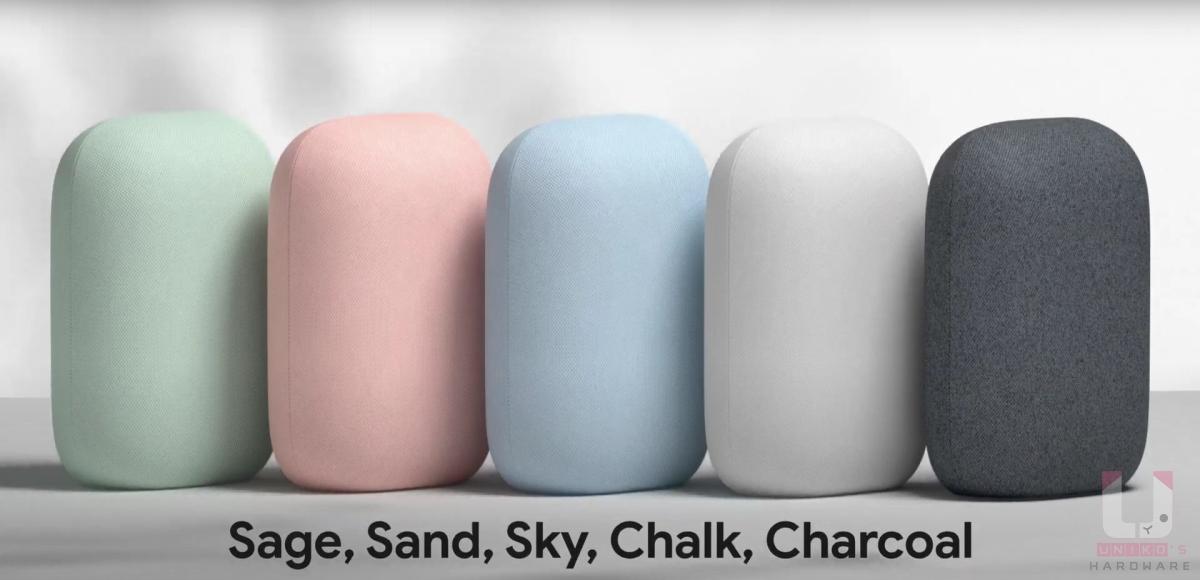 Nest Audio 目前台灣只有兩個顏色,石墨黑與粉炭白。