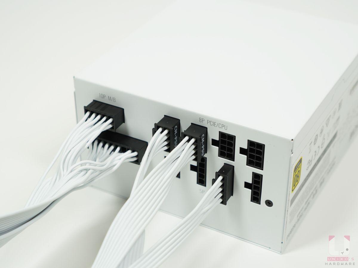 安裝模組化線材很輕鬆,都有防呆設計。