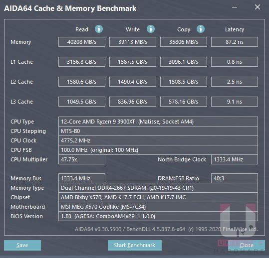 沒有套用 XMP 的設定,也沒有更改 FCLK 頻率,CL 20-19-19-43。