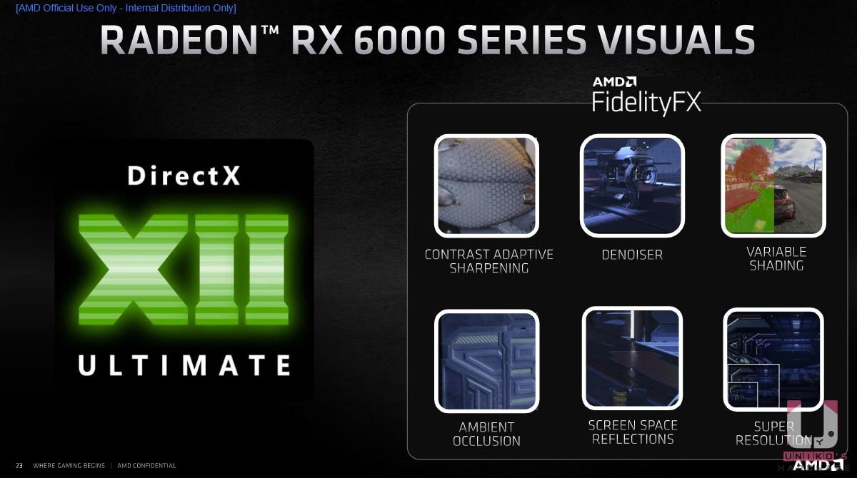 AMD 顯示卡支援 DirectX 12 ULTIMATE 光線追蹤,並且有高達 35 個遊戲支援 FidelityFX,畫面更加震撼。