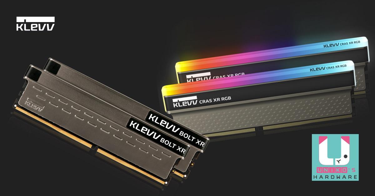 KLEVV 科賦為遊戲 / 超頻玩家打造 CRAS XR RGB 與 BOLT XR DDR4 記憶體。