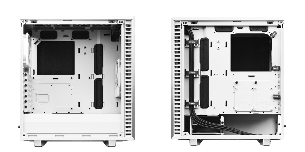 Define 7 Compact 極光白左側與右側。