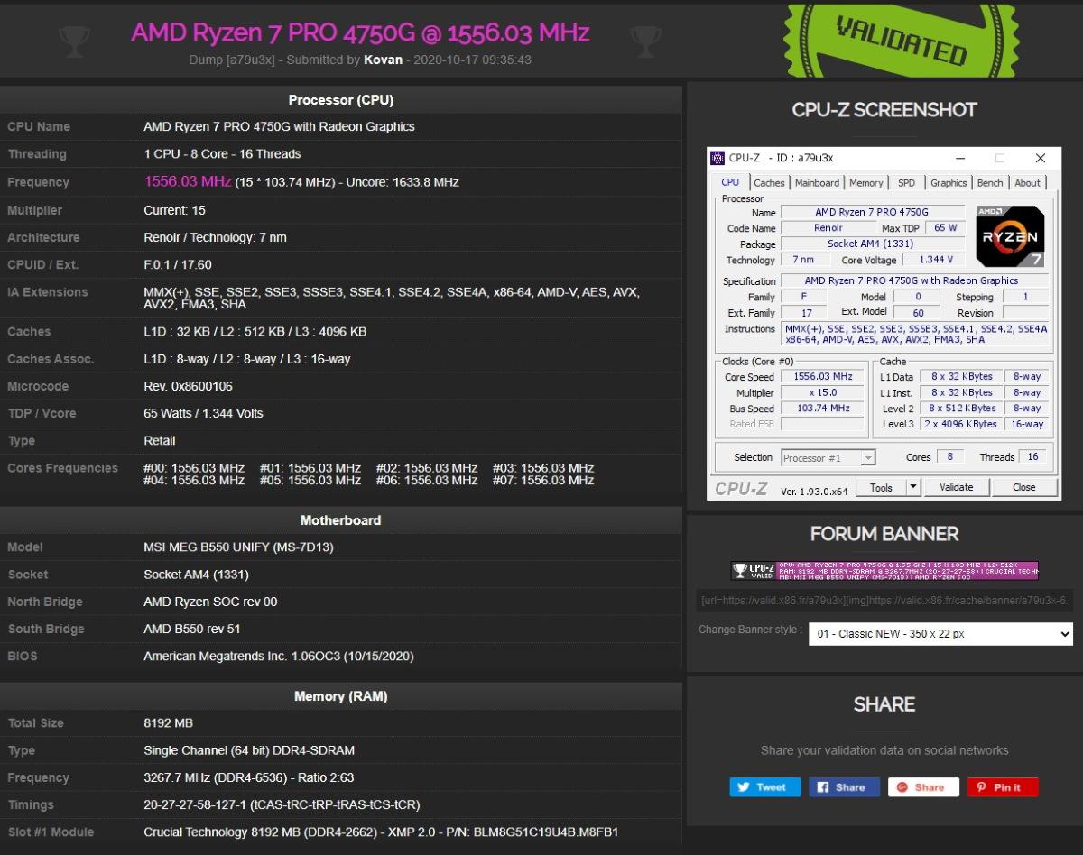 超頻玩家 Kovan Yang 使用 MEG B550 UNIFY-X,將 DDR4 記憶體超頻至 6536MHz,展現不凡的硬實力。