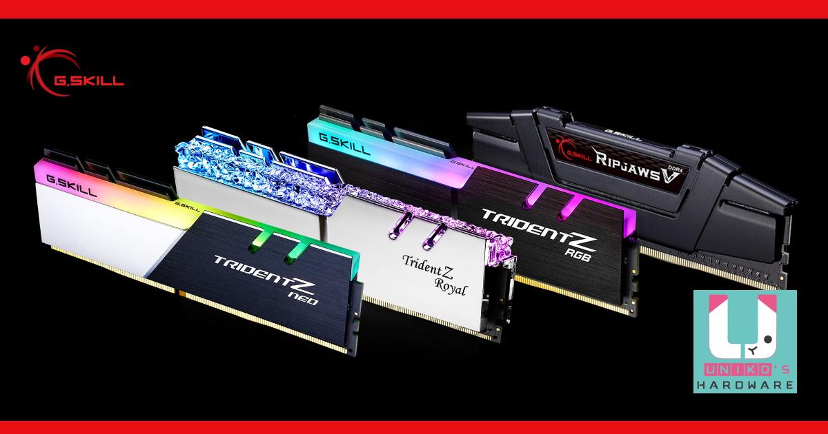 G.SKILL 芝奇 DDR4-3600 CL14 64GB (16GBx4) 記憶體即將登場。