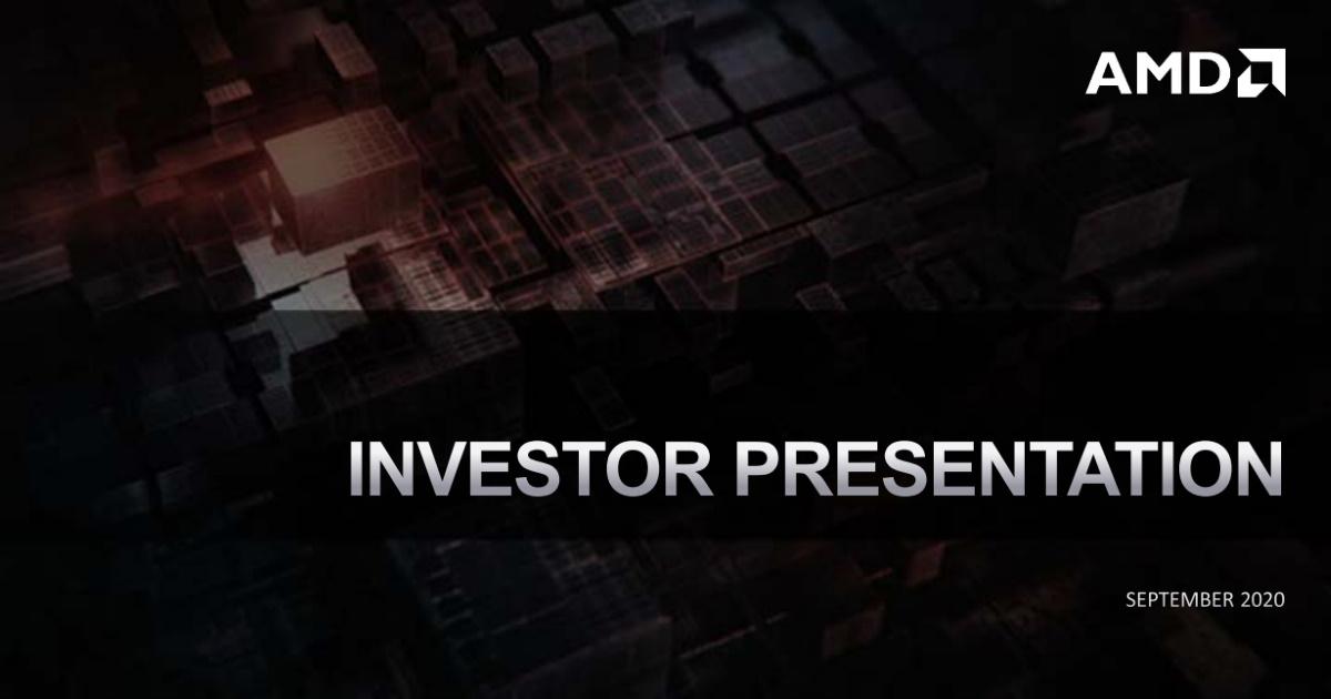 季度營收創紀錄! AMD 2020 Q3 財報釋出。