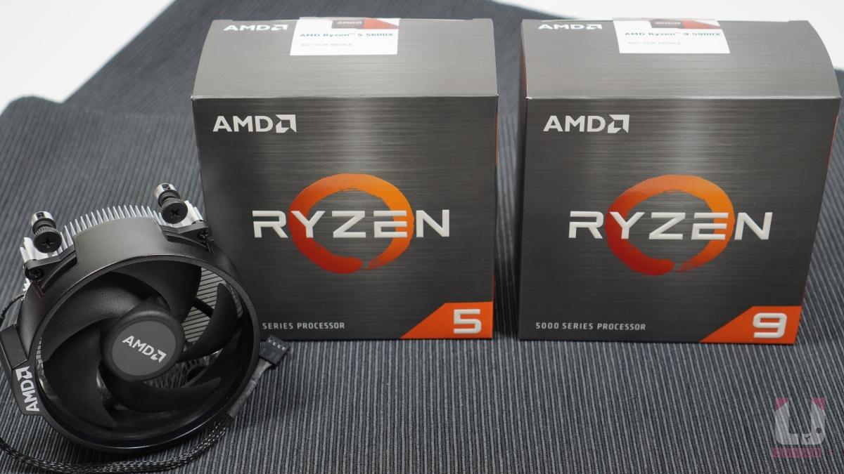 這次 Ryzen 5000 的包裝有金屬髮絲紋的質感。