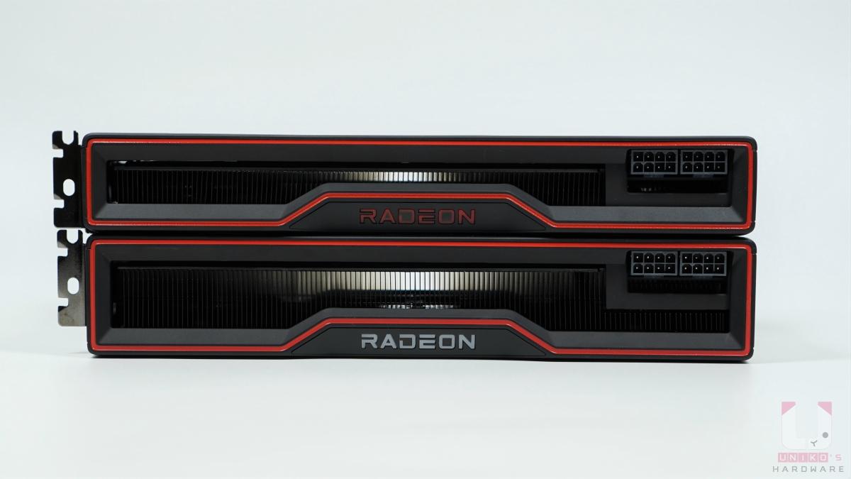 Radeon RX 6800 XT 厚度 50mm,對上 Radeon RX 6800 的厚度 40mm。