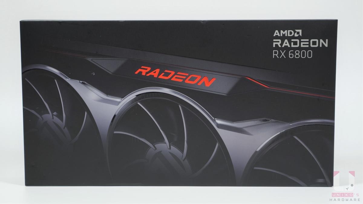 Radeon RX 6800 包裝正面。