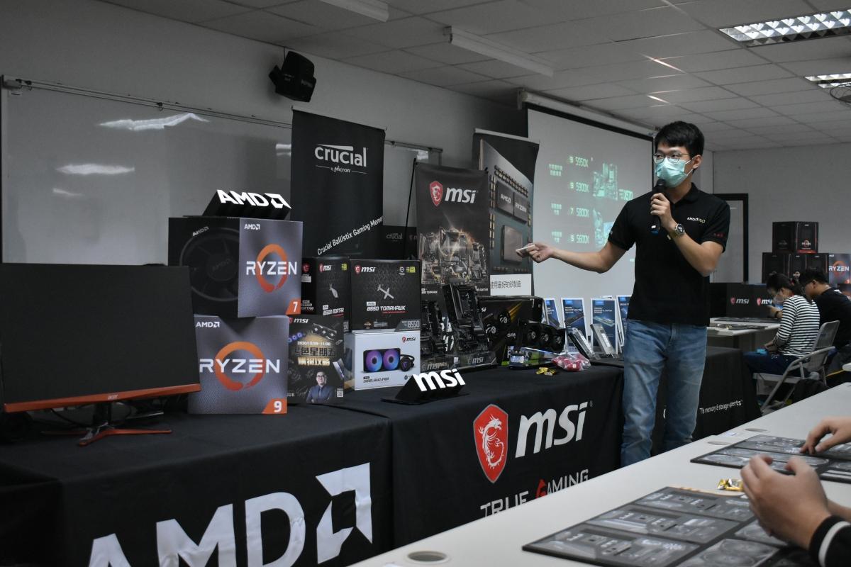 傳說中的 AMD 帥哥,說明這次 Ryzen 5000 CPU。
