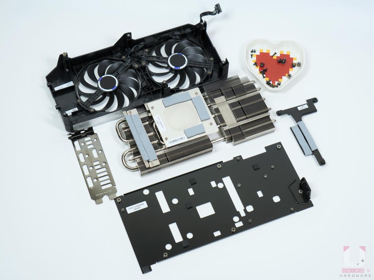 DUAL RTX 3070 O8G 散熱器全零件拆開。