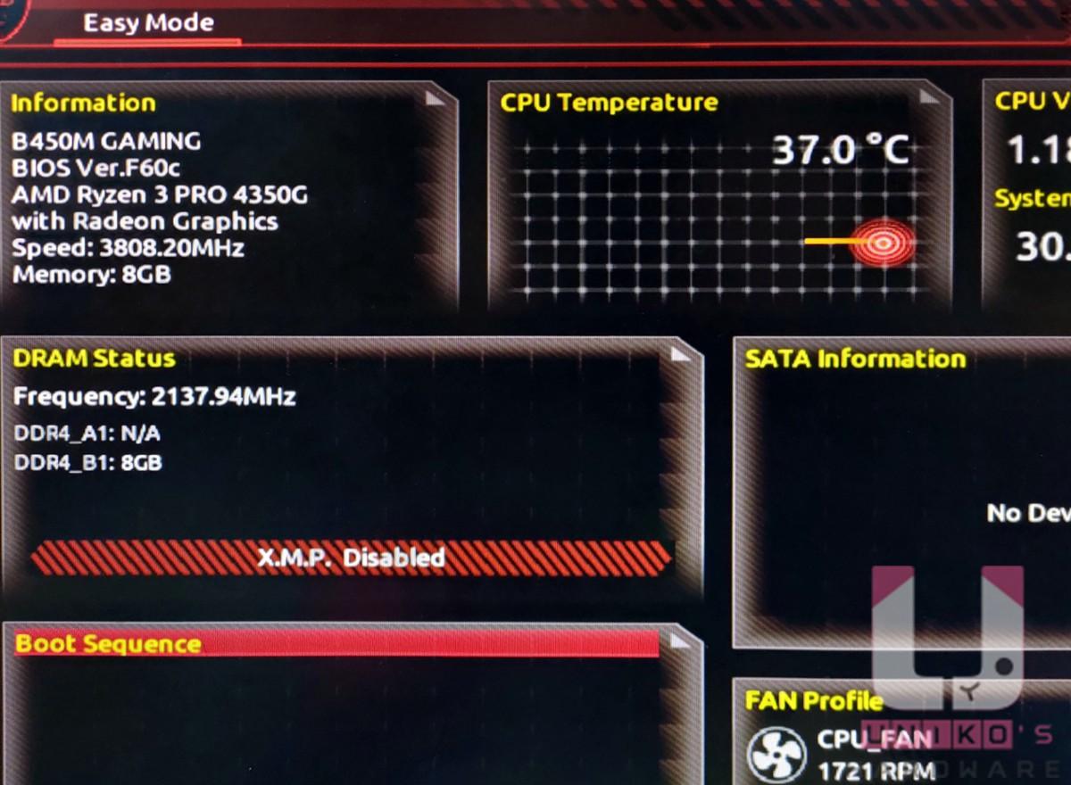 另外 F60c 筆者先前測試過 Ryzen Pro 4000 系列 CPU 同樣能支援。