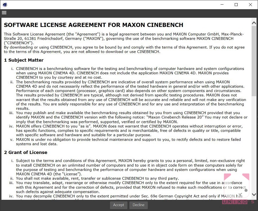 初次執行需按 Accept 接受授權協議。