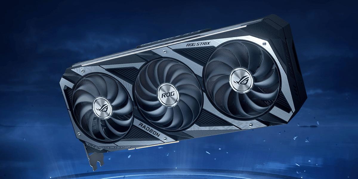 ROG Strix RX 6800 採用 2.9-slot 插槽大型散熱器,以多個熱導管與 MaxContact 技術增加顯示卡晶片的接觸面積,進而有效轉移熱度。