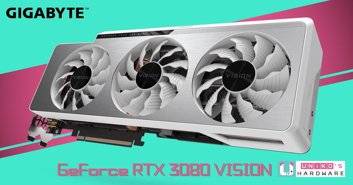 創作至上! GIGABYTE GeForce RTX 3080 VISION OC 10G 評測開箱