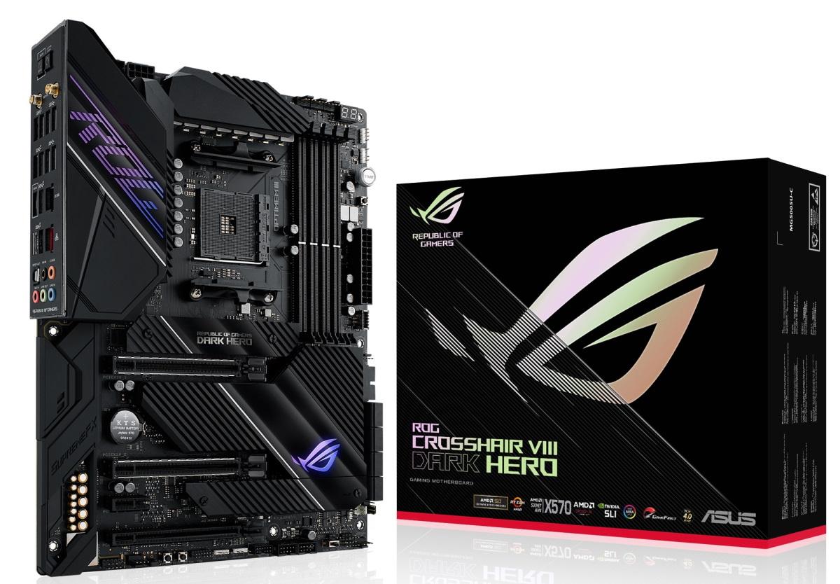 將於月底上市的「ROG Crosshair VIII Dark Hero」是 ROG 玩家共和國首款採用全被動式散熱設計的 X570 主機板。