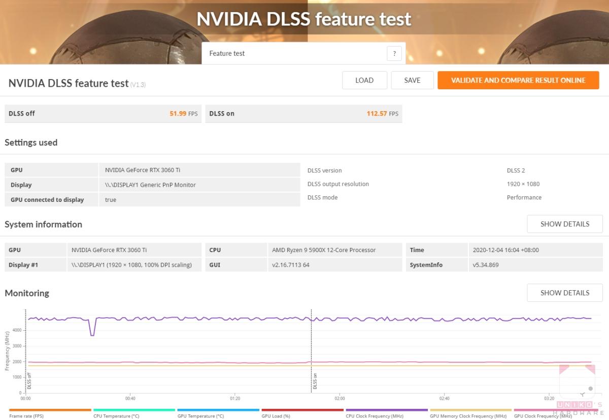 DLSS 2 / 1080P,112.57 FPS。