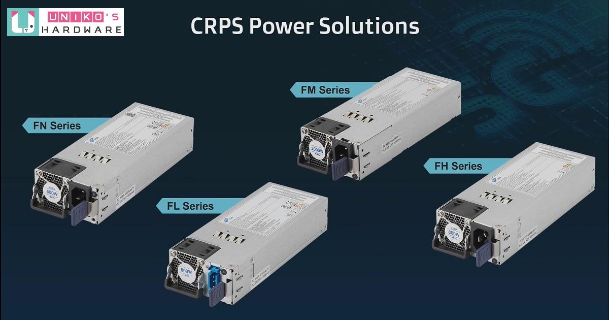 FSP 全漢提供 5G 應用伺服器電源供應器 (CRPS) 齊全產品線