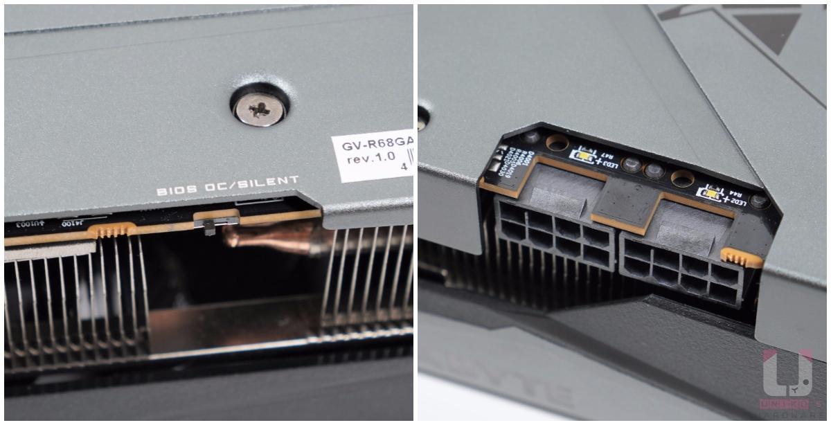 雙 BIOS 模式,Silent 模式會降低頻率和風扇轉速,模式切換後需要重開機才可以變換。( 出廠預設 BIOS OC );2 組供電接口 8 Pin,內建指示燈。