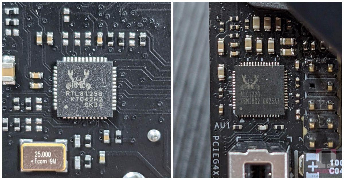 Realtek RTL8125B (2.5G) 有線網路、Realtek ALC1220 音效晶片。