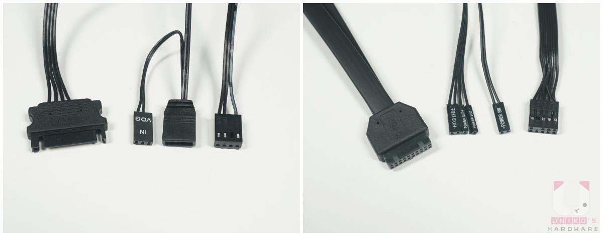 控制面板的線材,控制器需要連接 SATA 電源,另外 FAN、ARGB 也可以連接到主機板控制。