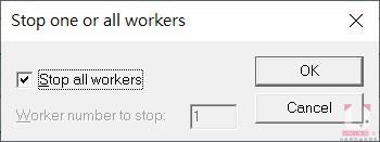 若要終止測試可以按 ESC 鍵,出現以下視窗時按 OK。
