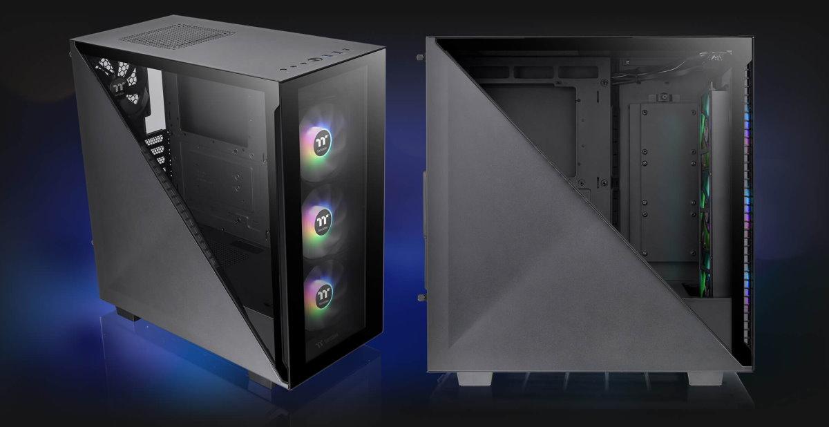 左側三角形造型的強化玻璃可單獨拆卸與安裝,給予玩家不同的方式展現內部硬體設備。