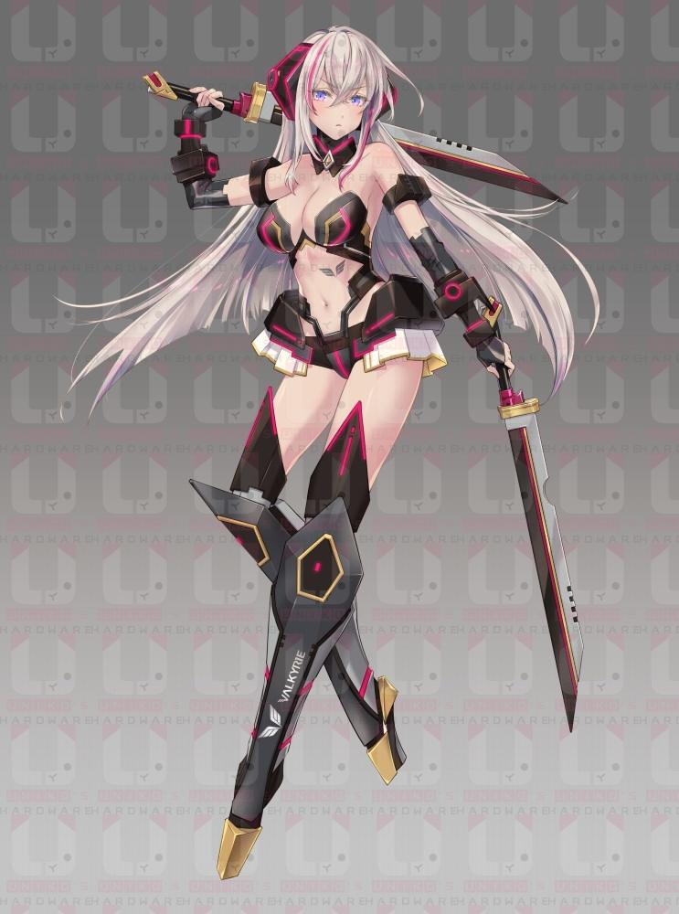 與另一章全副武裝型態看起來都呼應了桃紅色與金色主題點綴主機板。