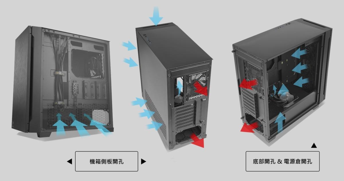 P10 FLUX 主打散熱能力,機殼從裡到外全面針對散熱做好導流。