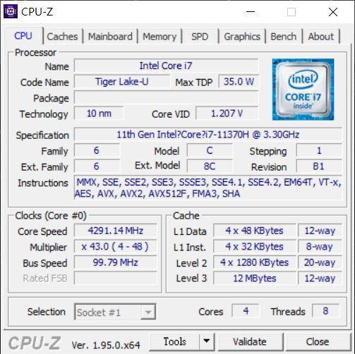 CPU-Z 驗明身分。