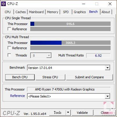 CPU-Z Bench CPU 分數。