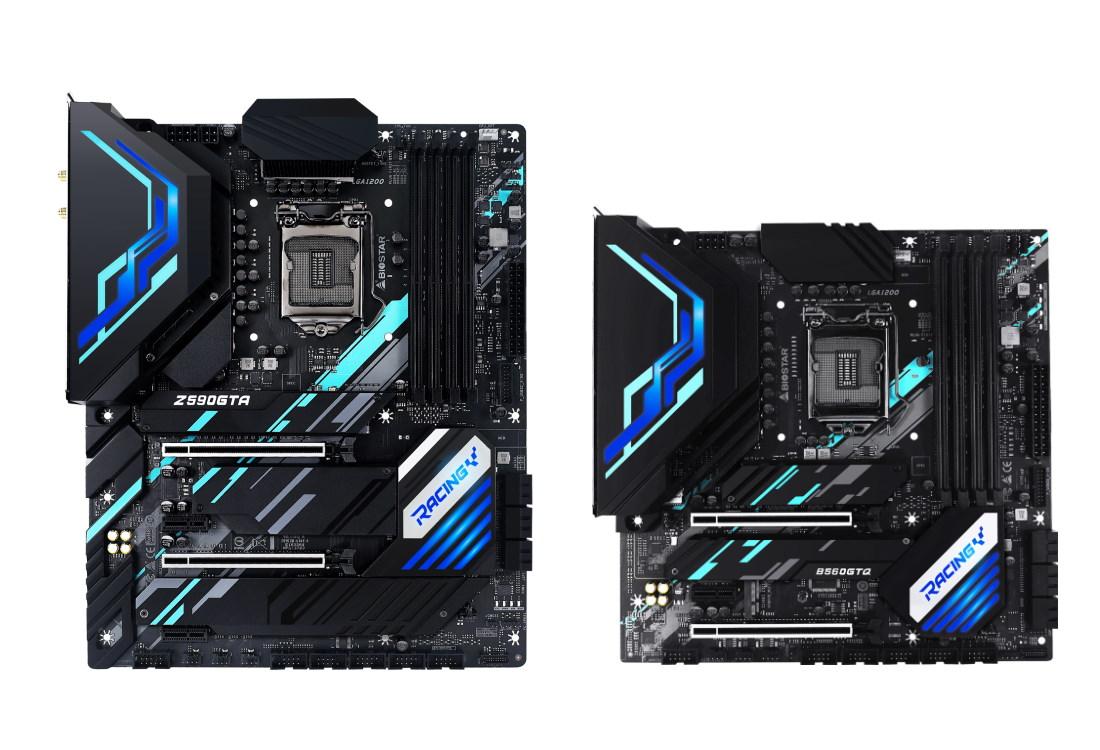 Intel Z500 RACING 系列主機板,左:Z590GTA,右:B560GTQ。