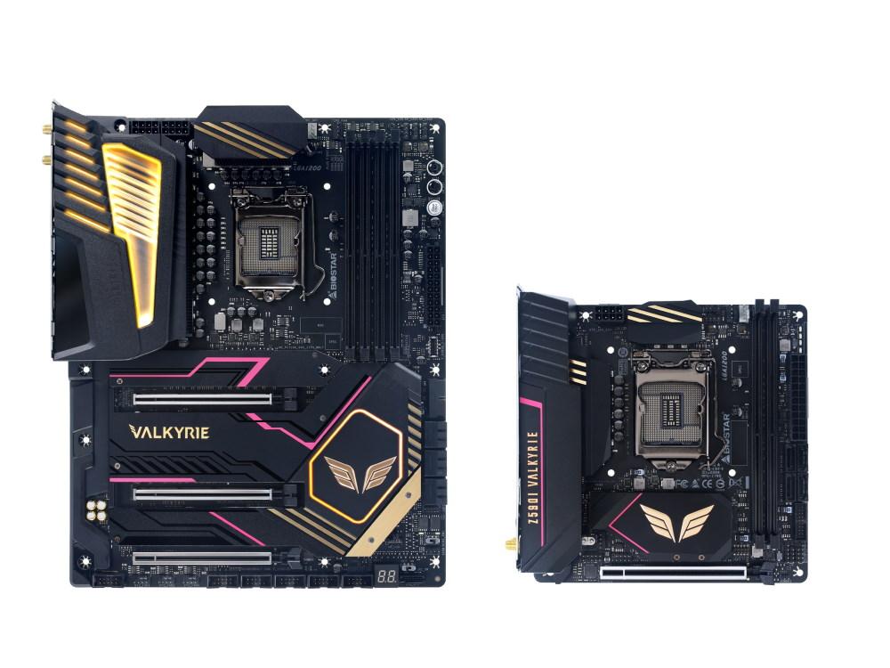 Intel Z500 VALKYRIE 系列主機板,左:Z590 VALKYRIE,右:Z590I VALKYRIE。