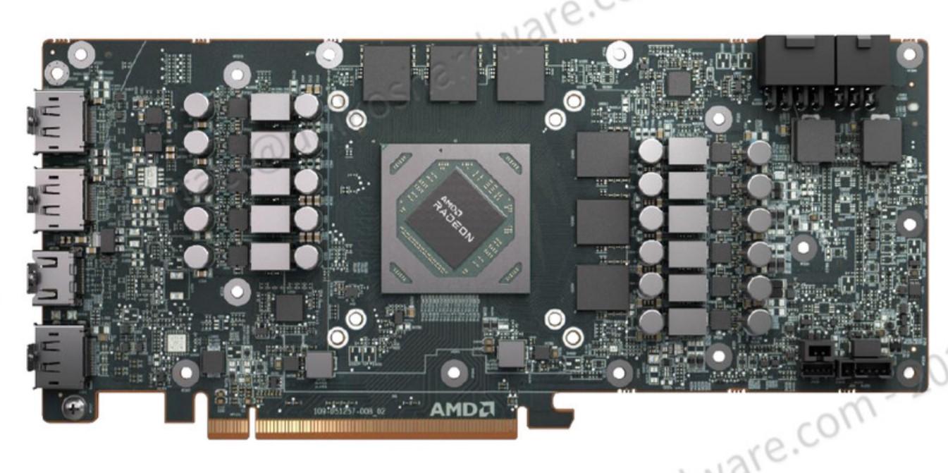 Radeon RX 6700 XT 公版 PCB。
